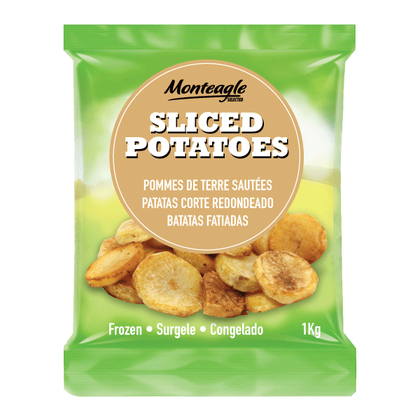 sliced potatoes / sautées 1 kg monteagle brand simpplier