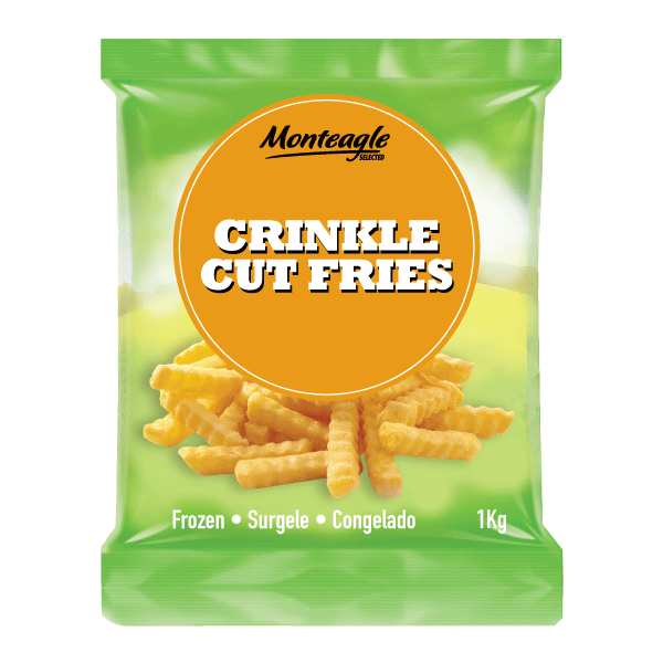 crinkle cut fries 1 kg monteagle brand simpplier