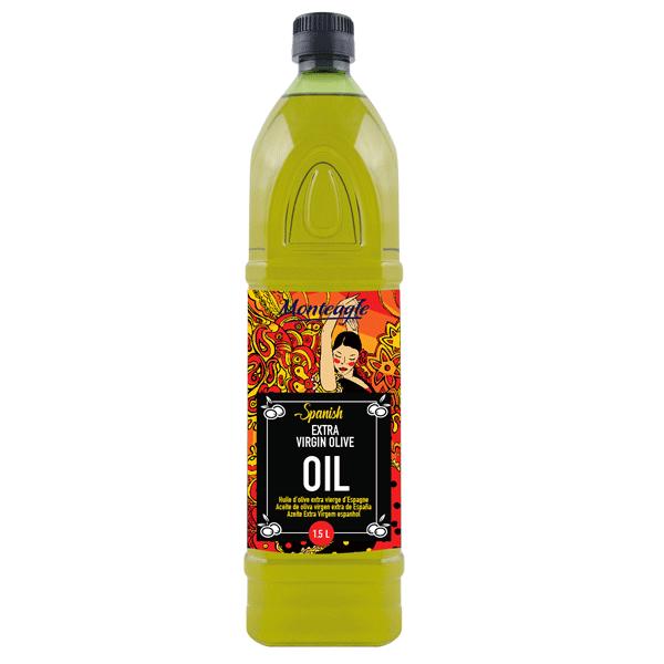 spanish extra virgin olive oil pet bottle 1,5lt monteagle brand simpplier
